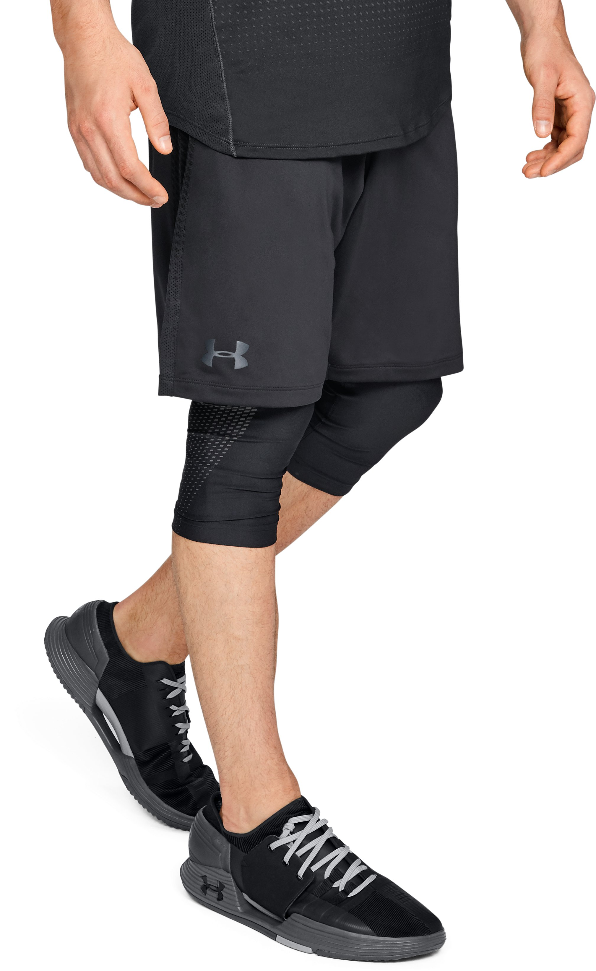 Men's UA MK-1 Patterned Shorts, Black