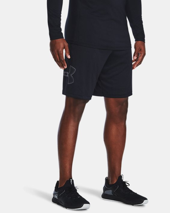 Pantalón corto con estampado UA Tech™ para hombre, Black, pdpMainDesktop image number 1