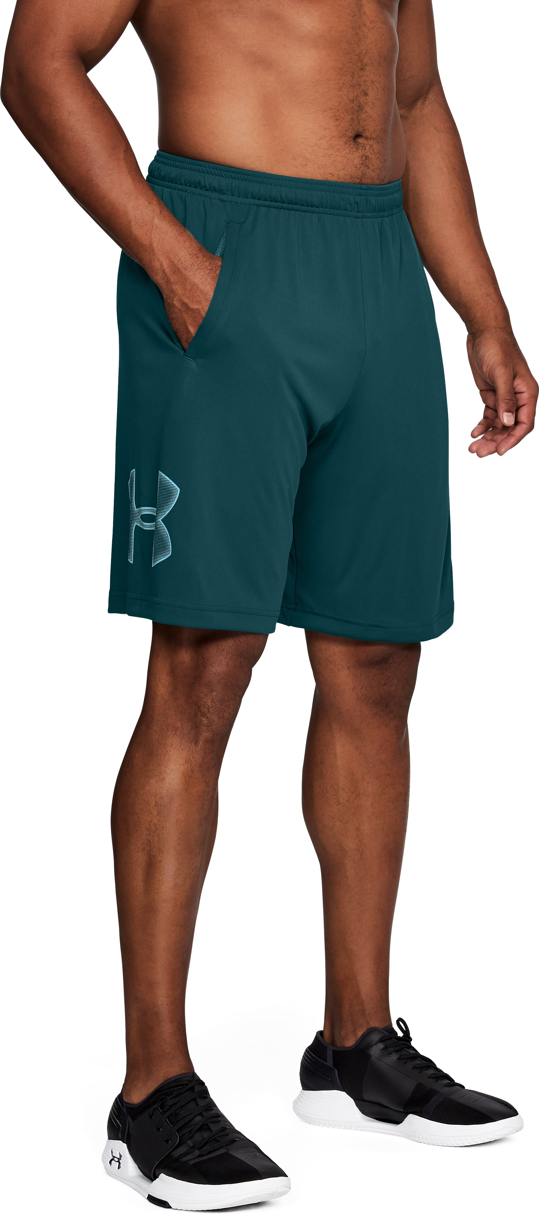 Men's UA Tech™ Graphic Shorts, TOURMALINE TEAL