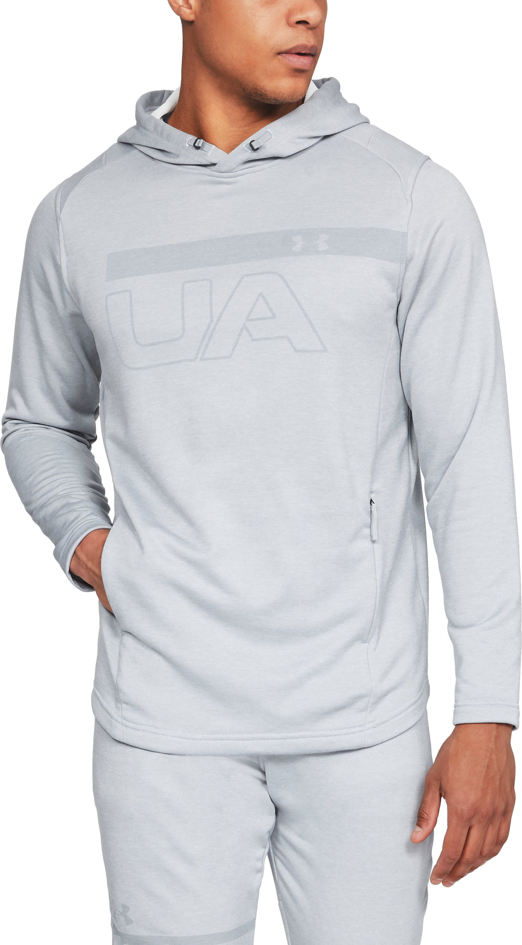 Men's UA MK-1 Terry Graphic Hoodie, White, undefined