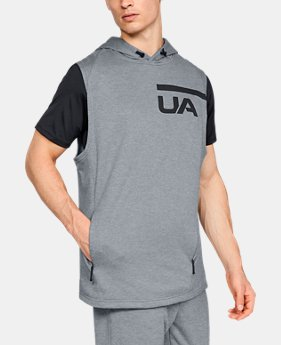 Men's UA MK-1 Terry Sleeveless Hoodie  1  Color Available $50