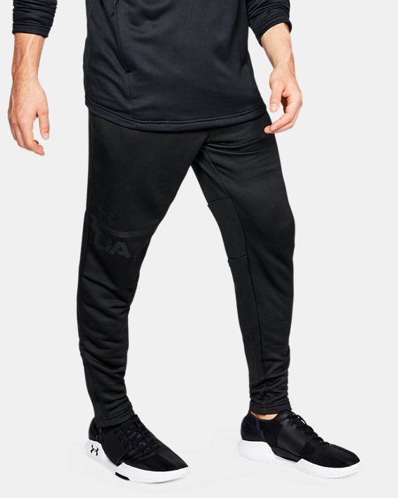 Men's UA MK-1 Terry Tapered Pants, Black, pdpMainDesktop image number 0