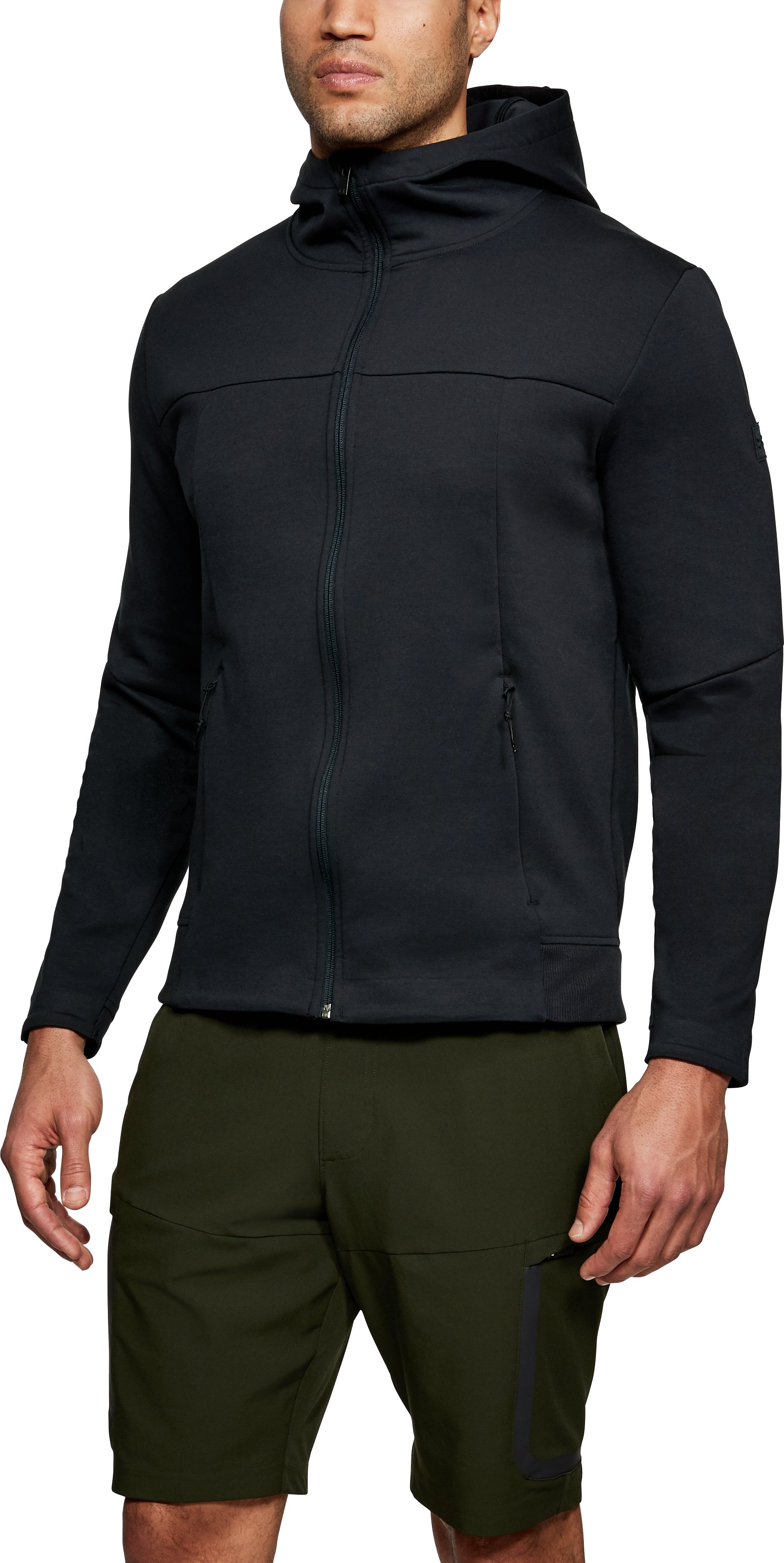 Men's UA Sportstyle Elite Utility Full Zip, Black , undefined
