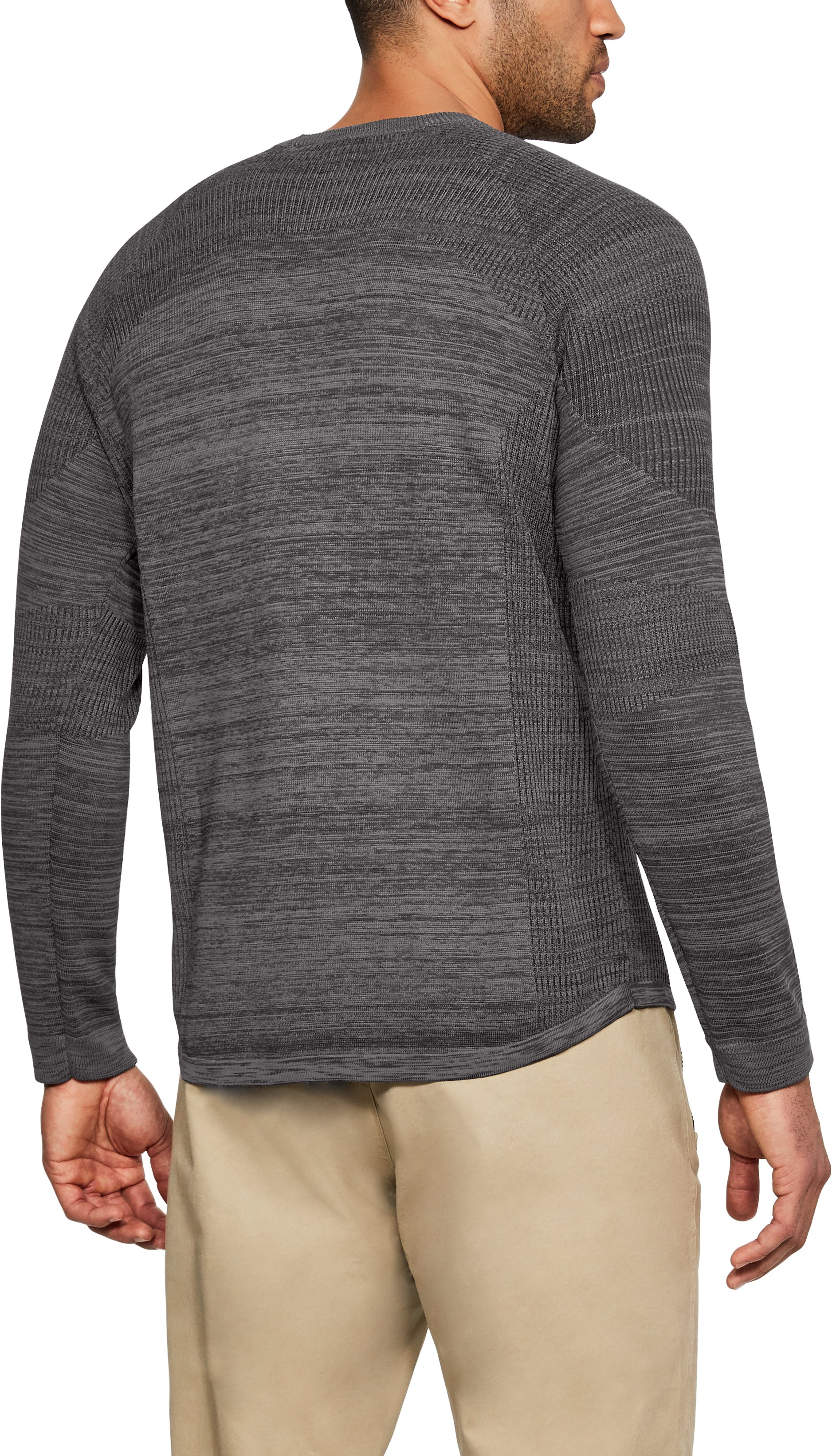 Men's UA Sportstyle Sweater, CHARCOAL MEDIUM HEATHER,