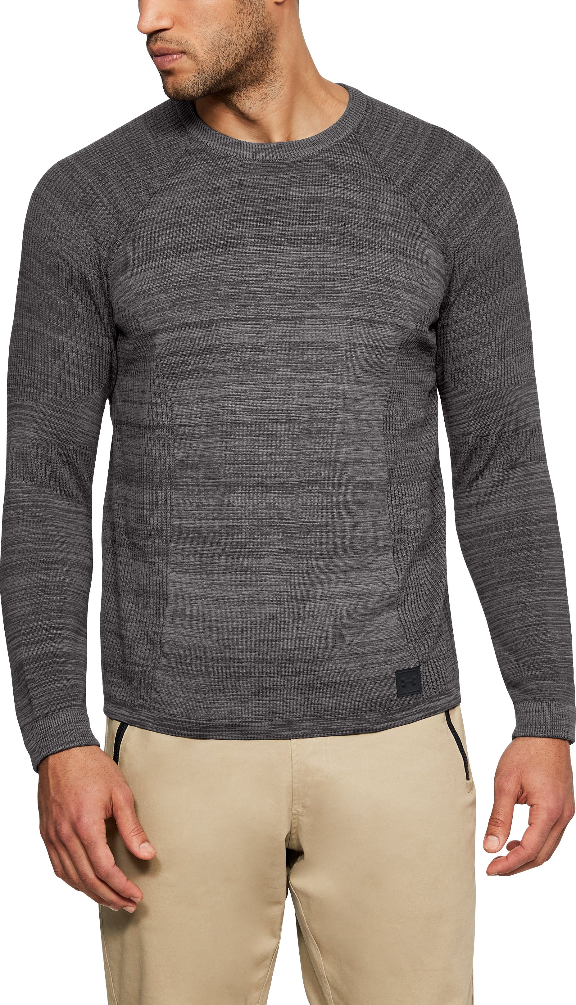 Men's UA Sportstyle Sweater, CHARCOAL MEDIUM HEATHER