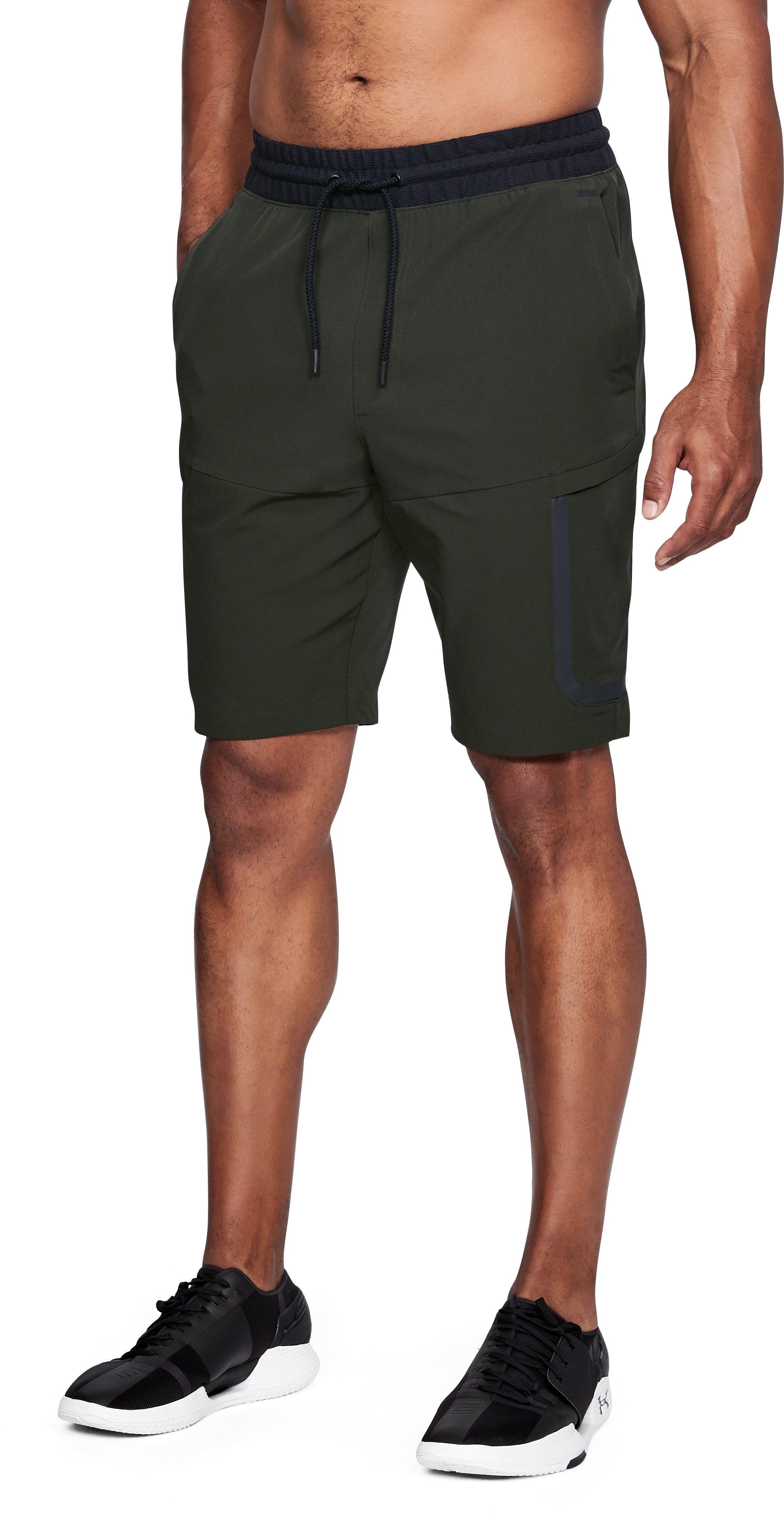 Men's UA Sportstyle Elite Cargo Shorts, Artillery Green,