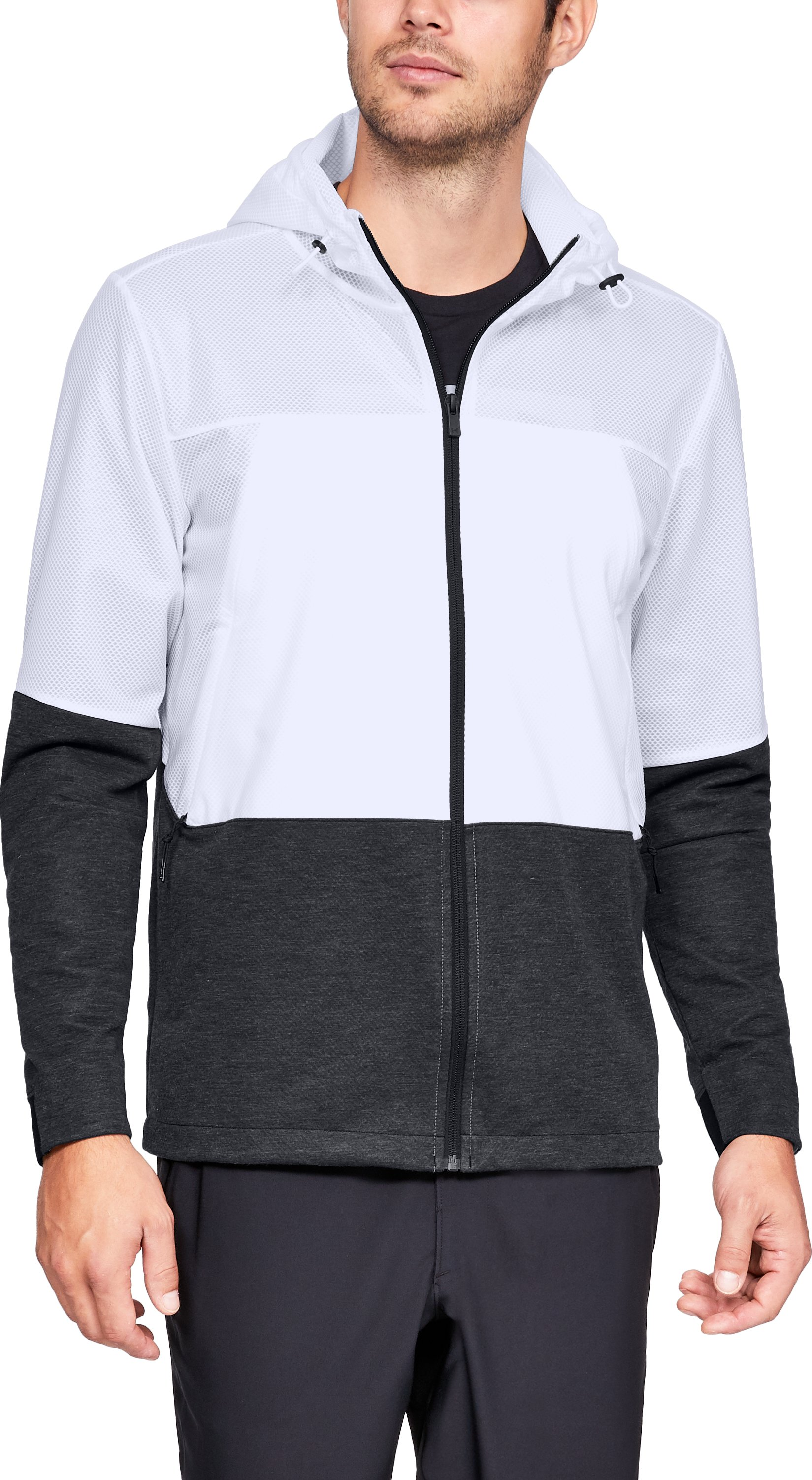 Men's UA Hybrid Windbreaker, White