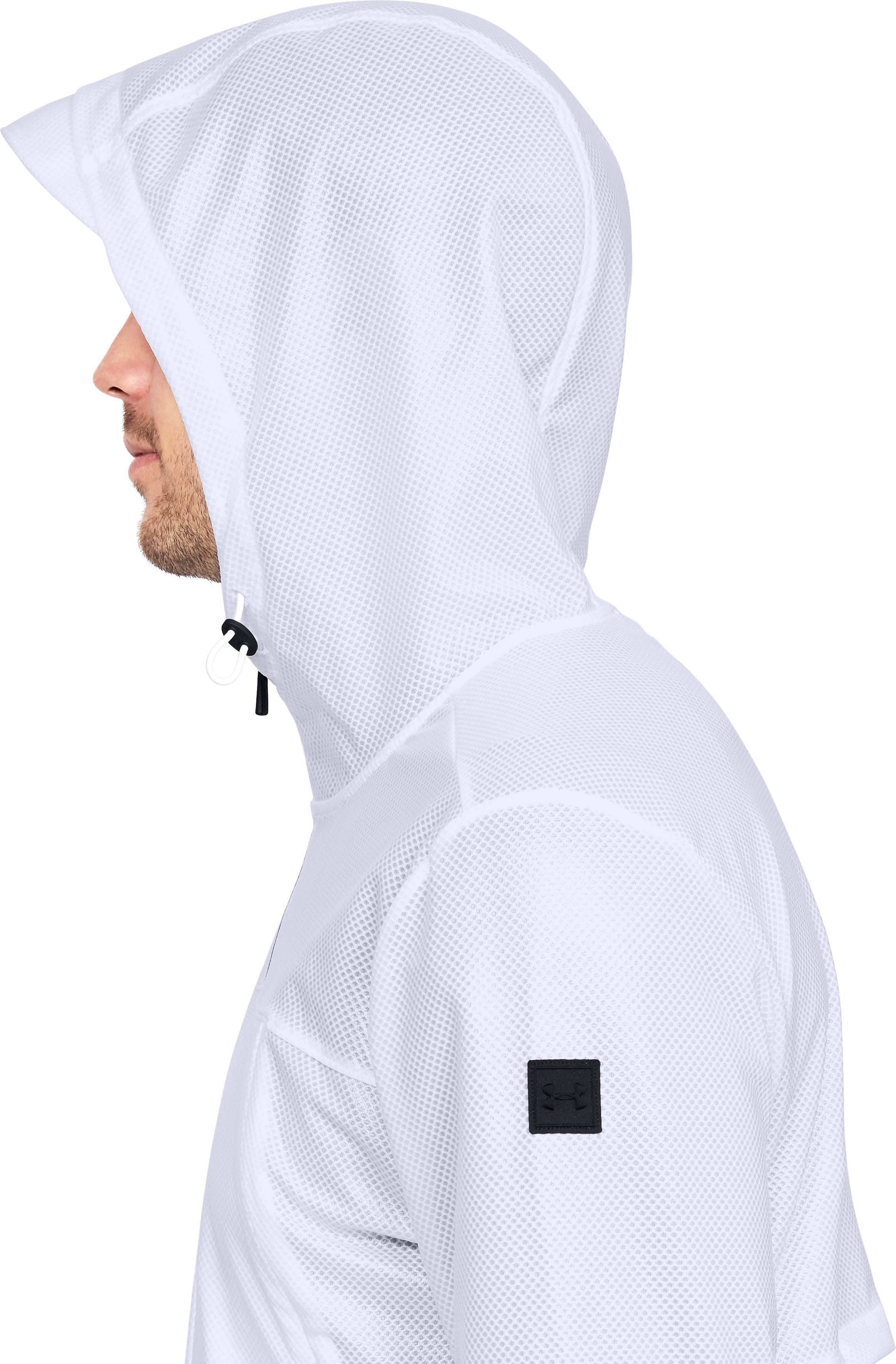 Men's UA Hybrid Windbreaker, White,