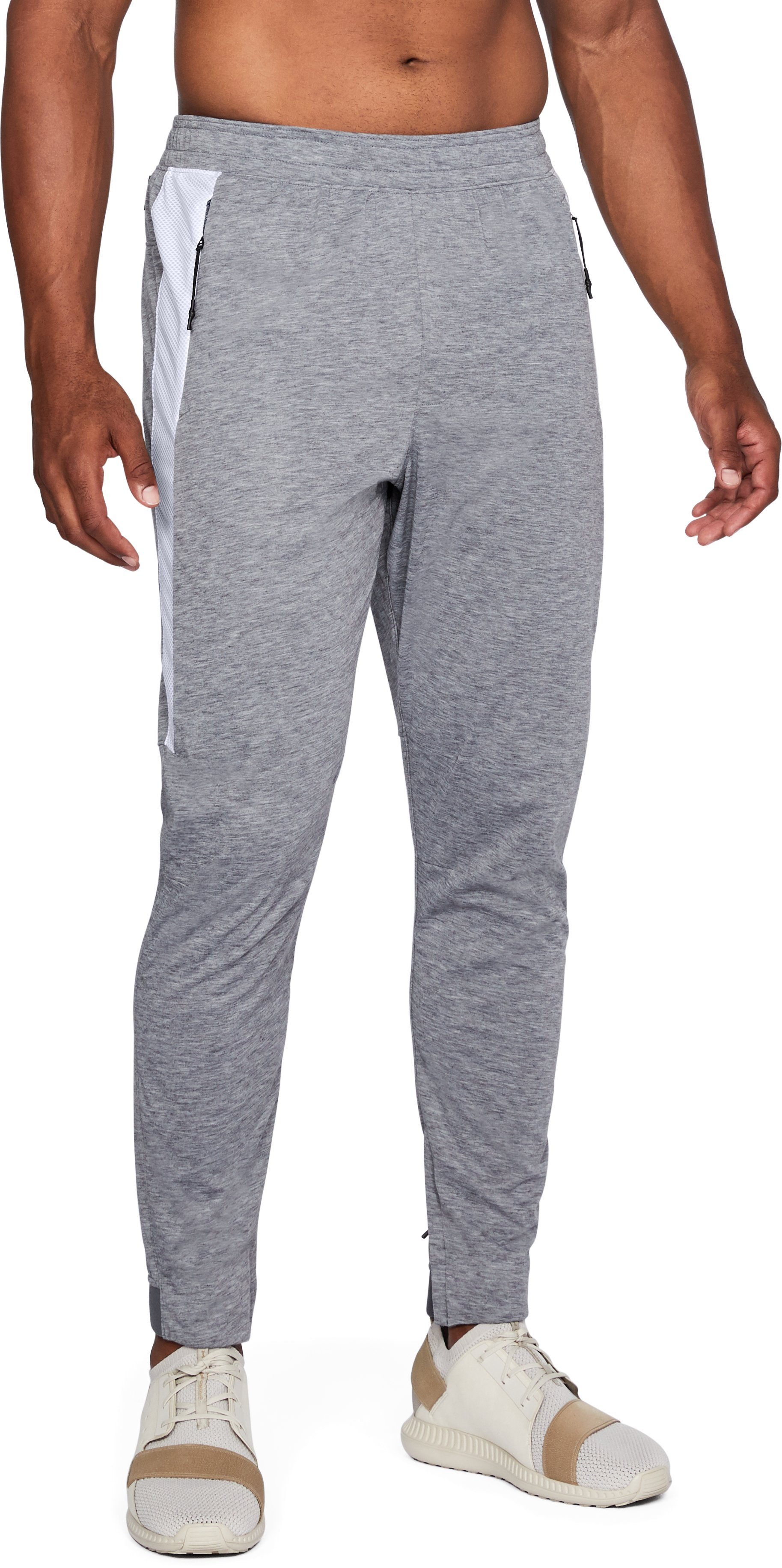 Men's UA Swacket Pants, STEEL FULL HEATHER