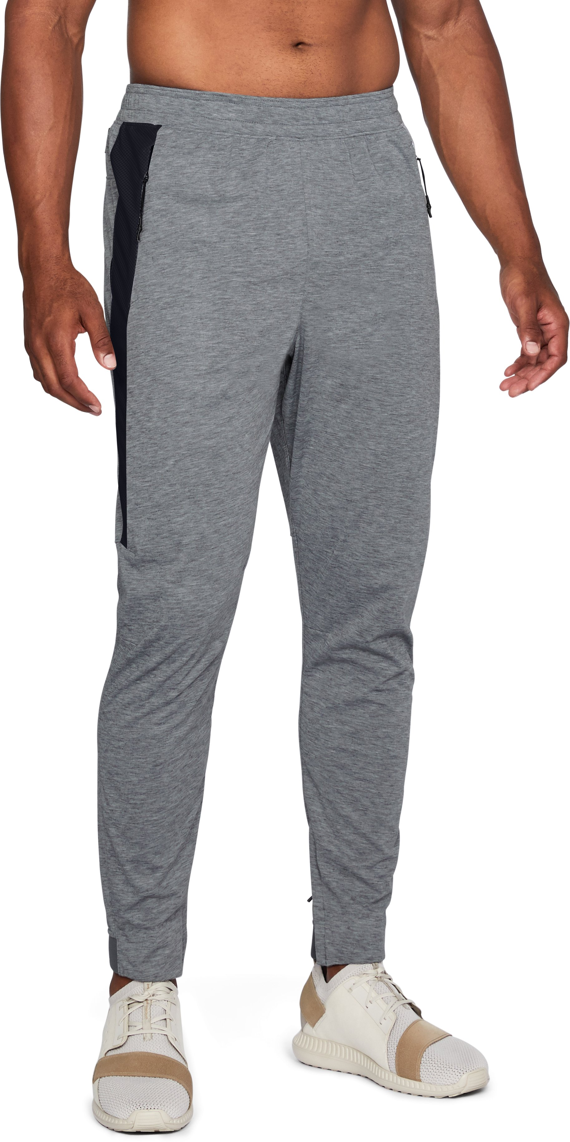 Men's UA Swacket Pants, STEEL FULL HEATHER,