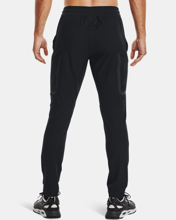Men's UA Sportstyle Elite Cargo Pants, Black, pdpMainDesktop image number 2