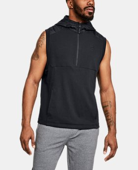 Men's UA Microthread Terry Sleeveless Hoodie  2  Colors $75
