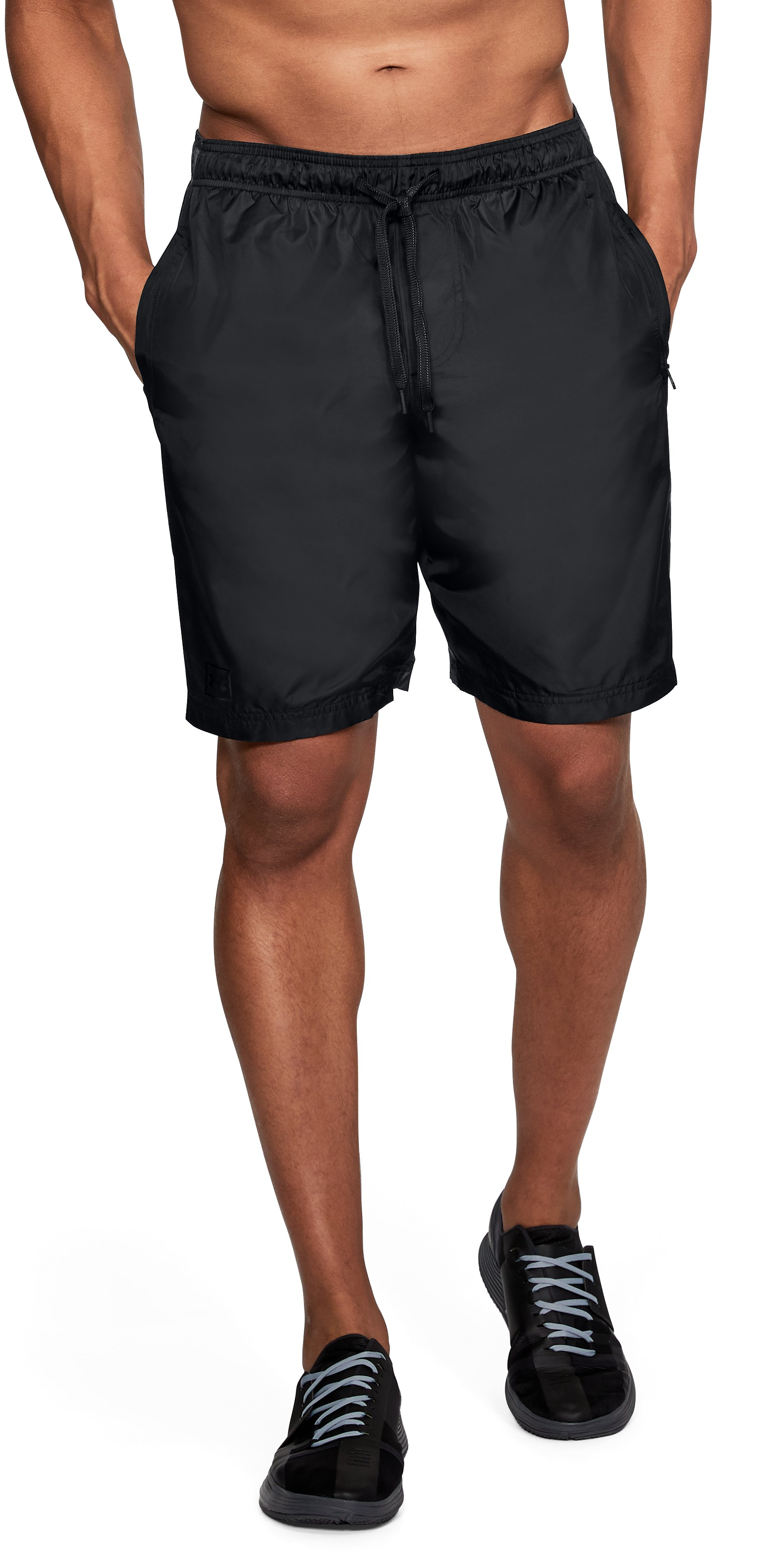 Men's UA Sportstyle Wind Shorts, Black