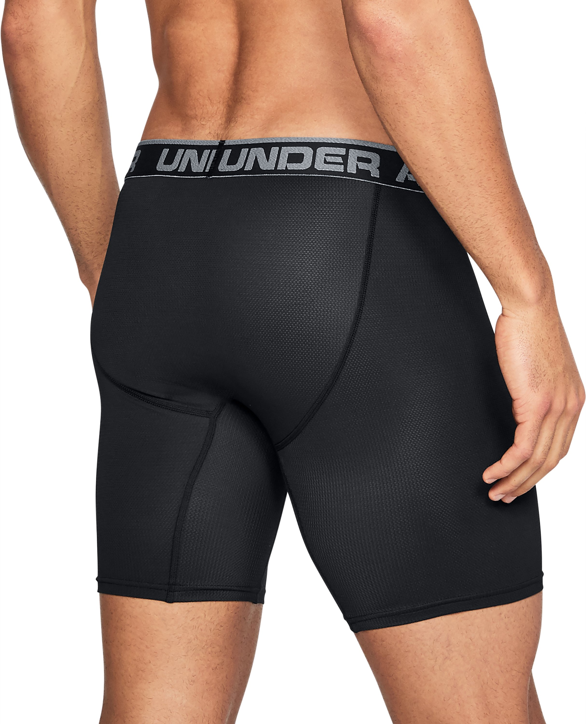 Men's UA Tech™ Mesh 9'' Boxerjock® – 2-Pack, Black ,