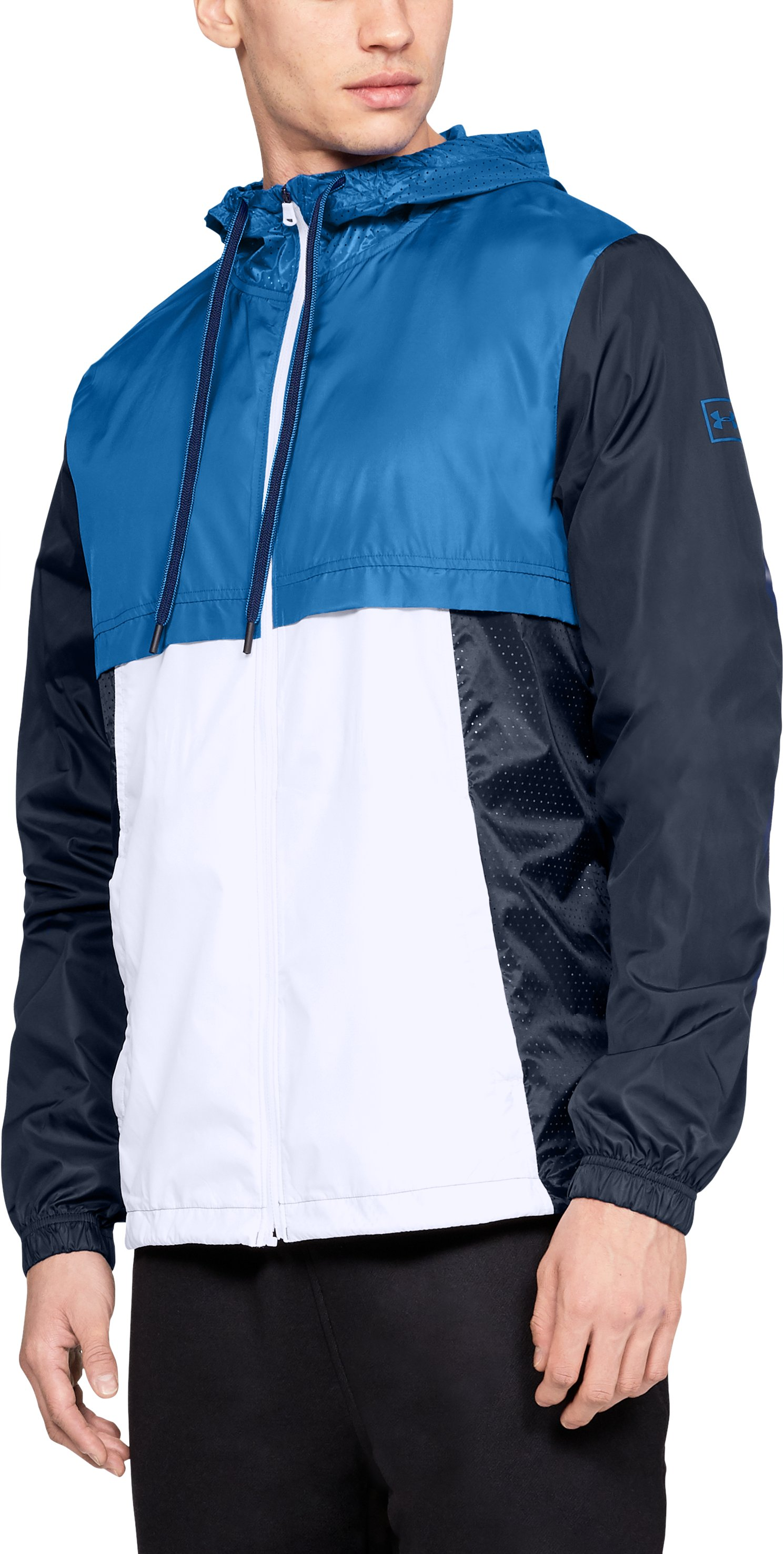 Men's UA Sportstyle Windbreaker Jacket, Academy,