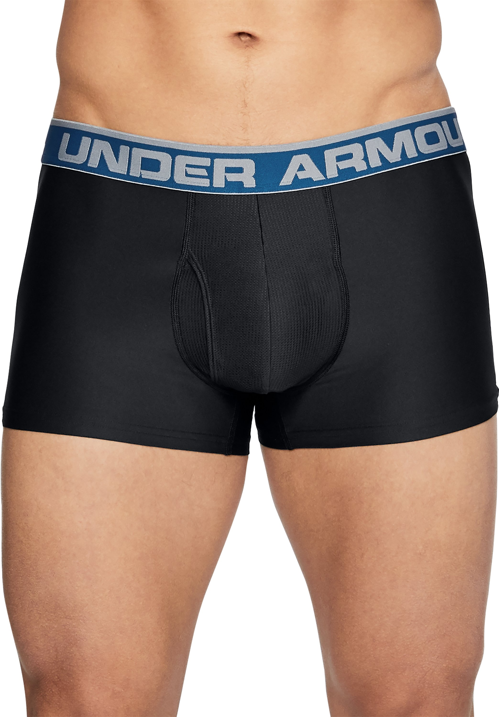 "Men's UA Original Series 3"" Boxerjock® 2-Pack, Black ,"