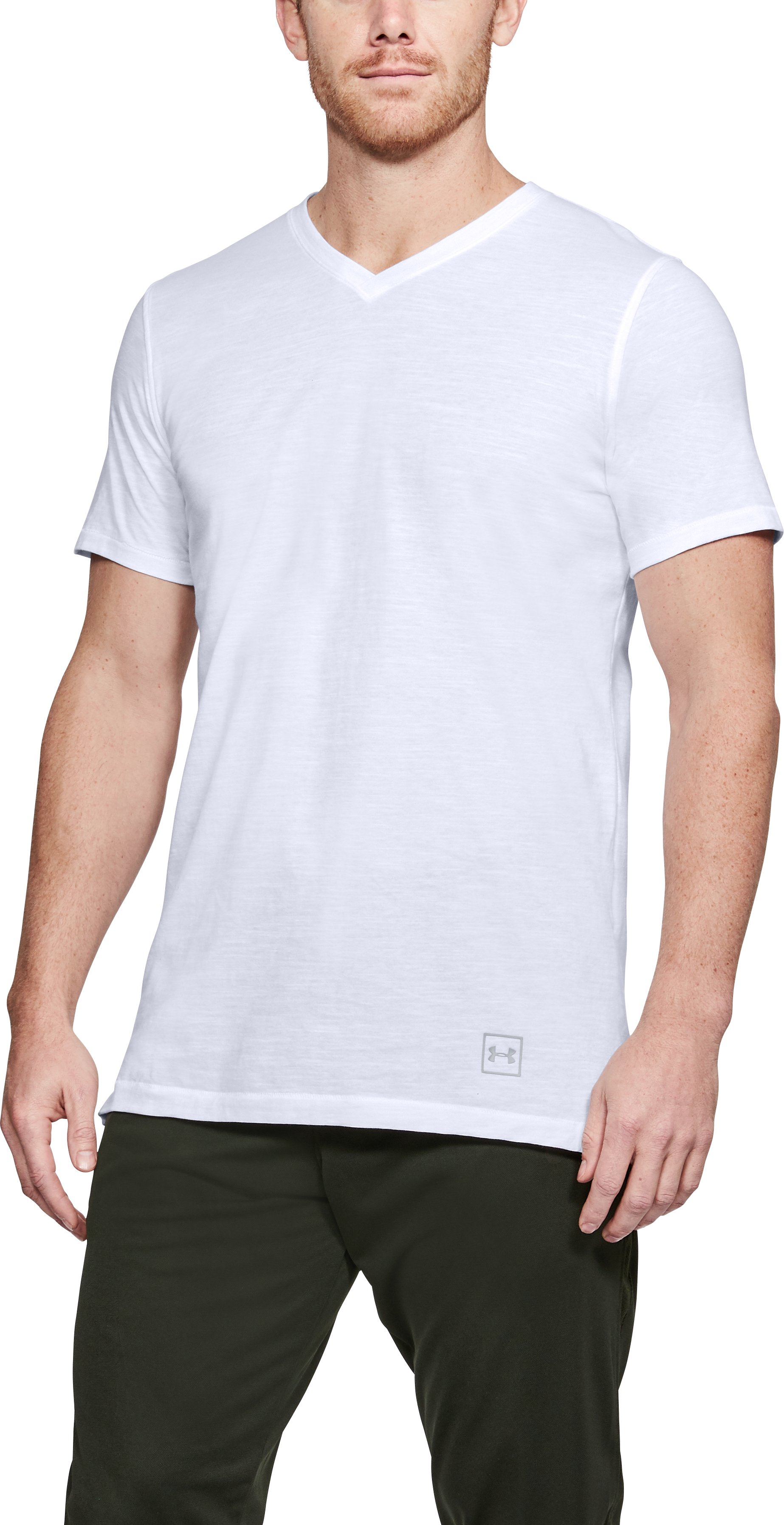 Men's UA Sportstyle Core V-Neck, White