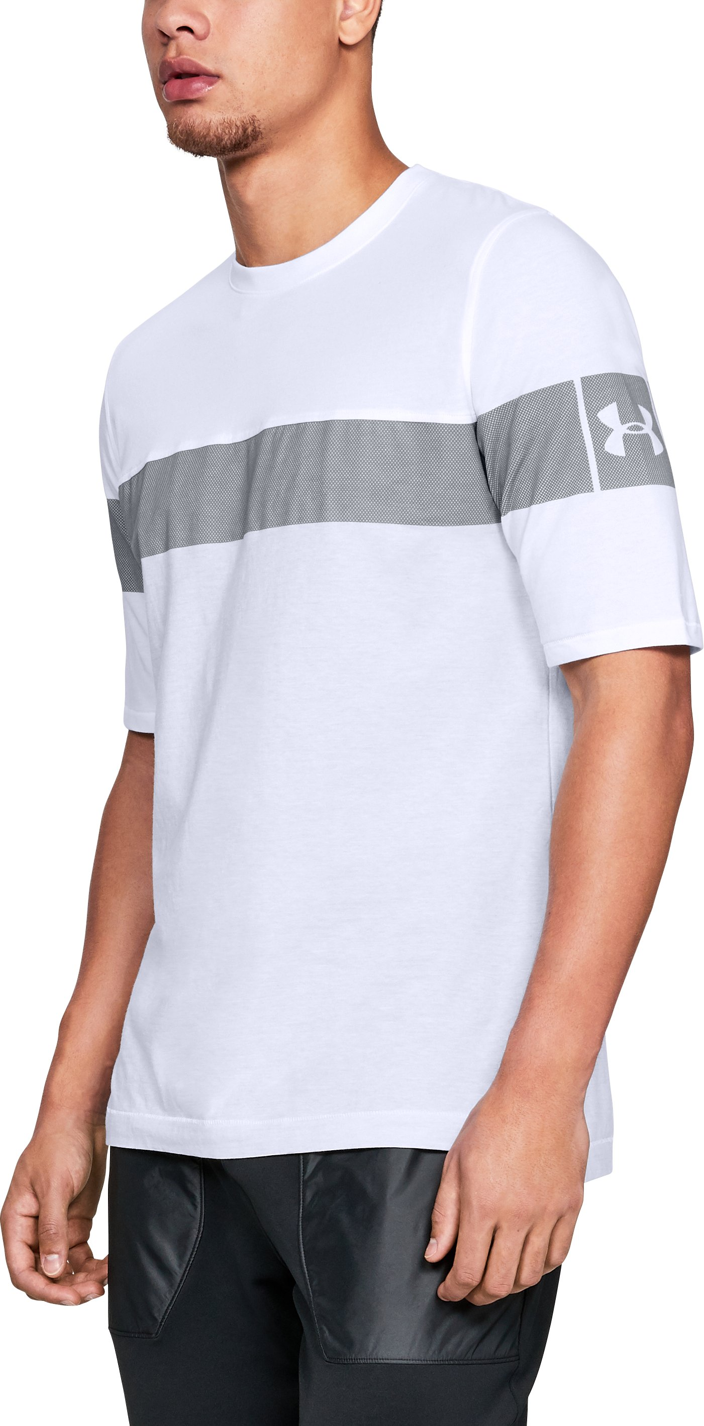 Men's UA Sportstyle Football T-Shirt, White,