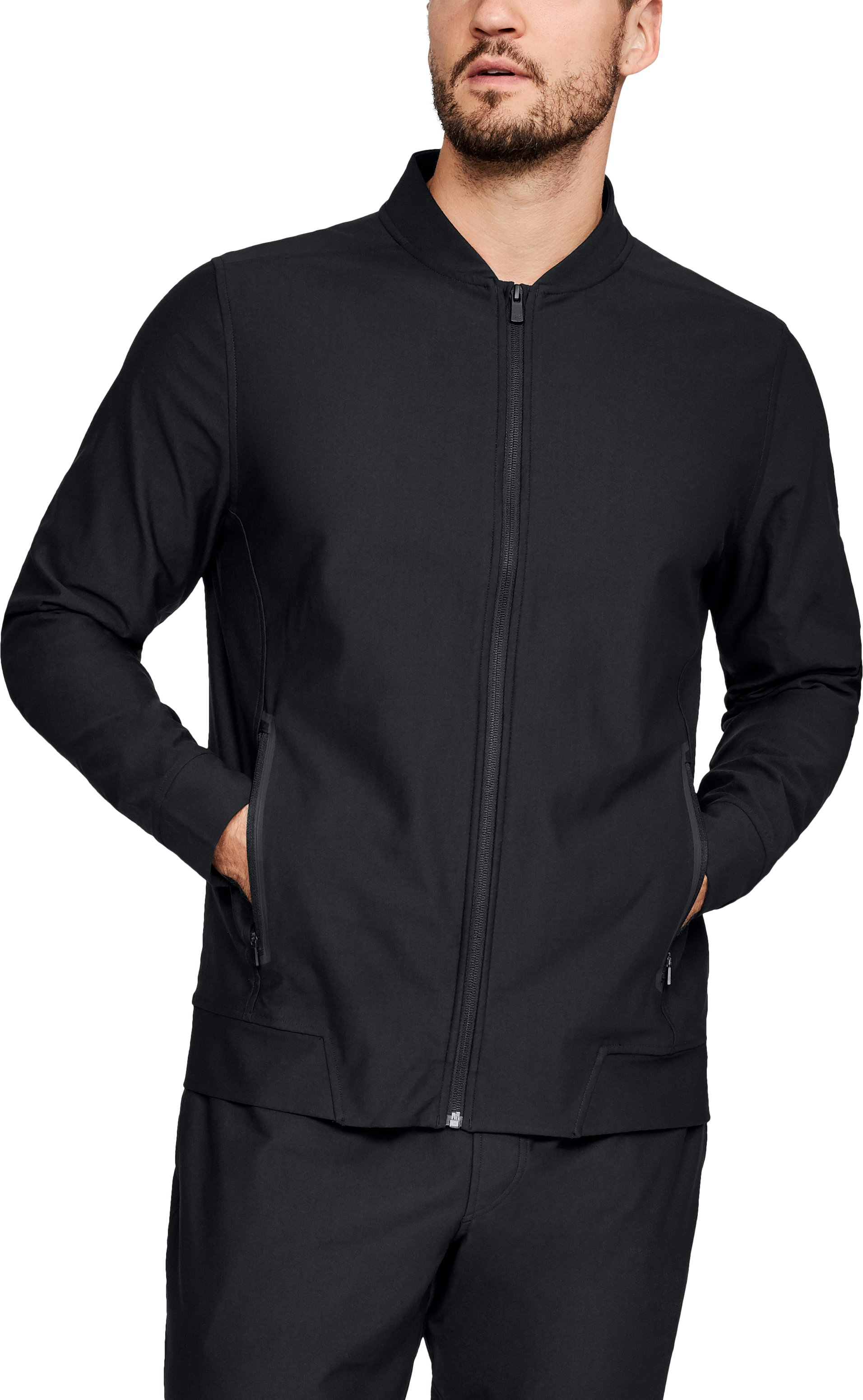 Men's Athlete Recovery Track Jacket, Black ,