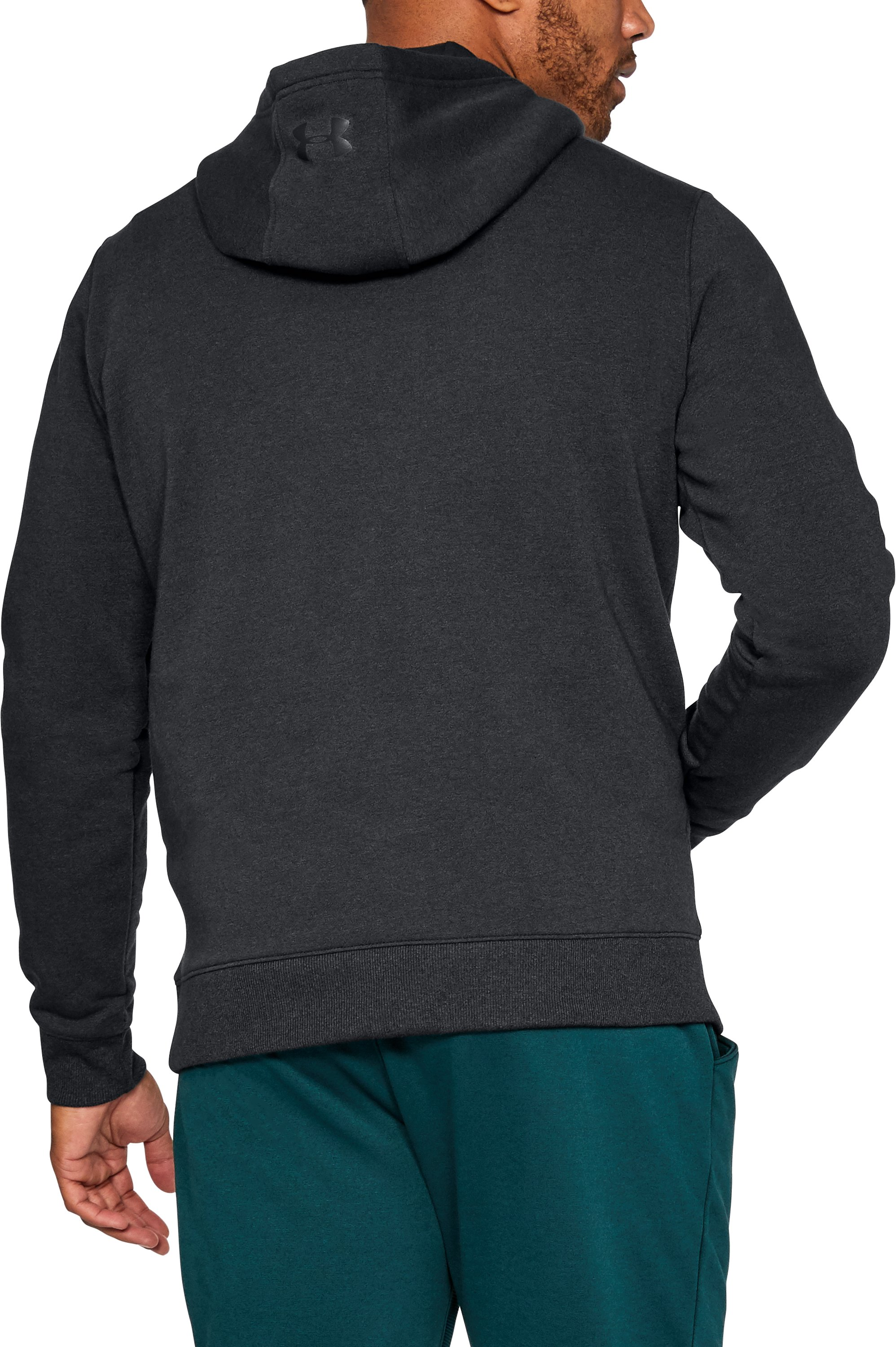 Men's UA Threadborne™ Fleece Hoodie, Black ,