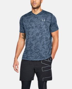 Men's UA Siro Printed V-Neck T-Shirt LIMITED TIME: FREE U.S. SHIPPING 4  Colors Available $29.99