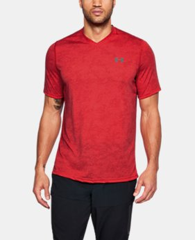 Men's UA Siro Printed V-Neck T-Shirt LIMITED TIME: FREE SHIPPING 6  Colors Available $35