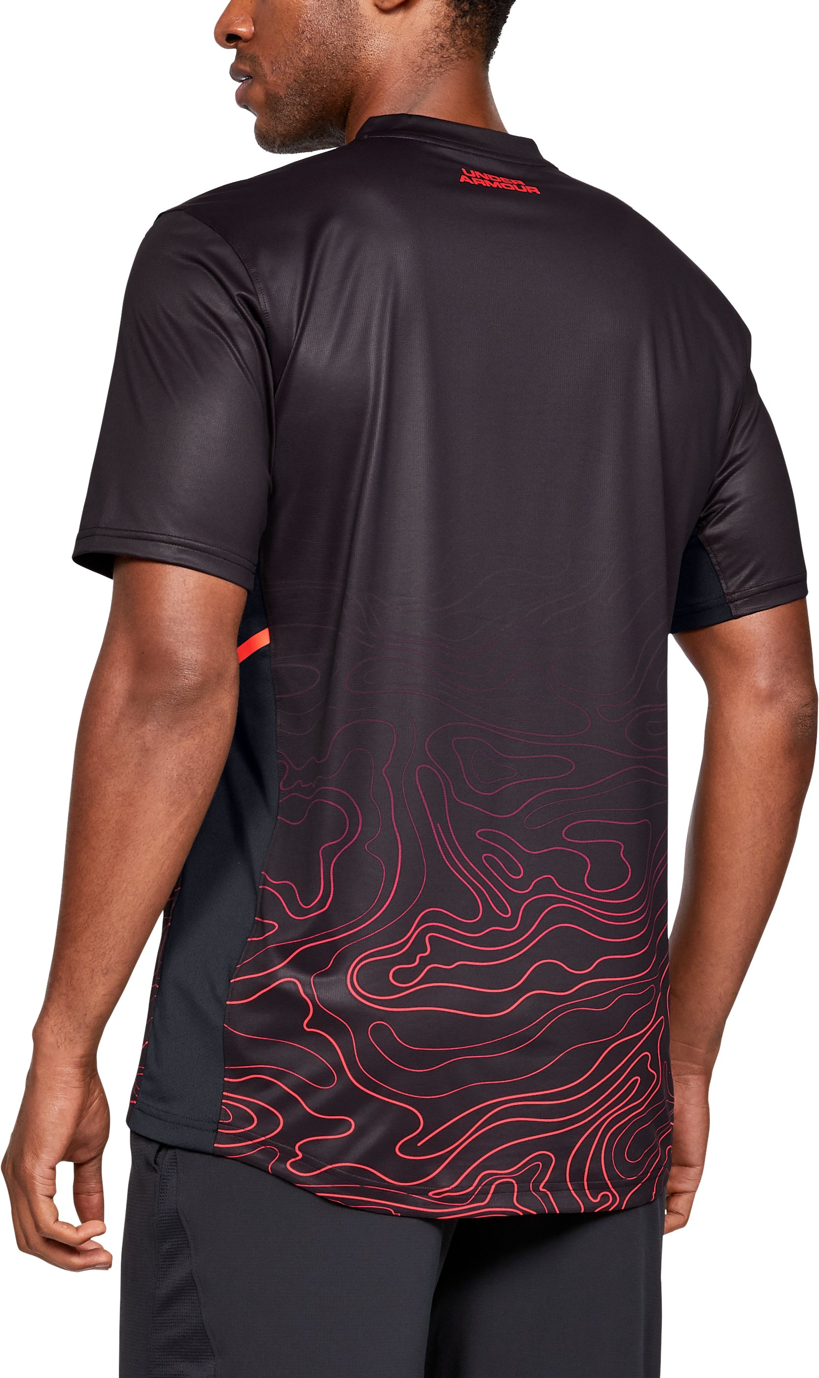 Men's UA Forge V-Neck Patterned, Black ,