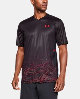 Men's UA Forge V-Neck Patterned  1  Color Available $65