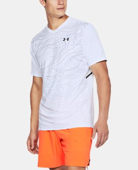 New Arrival Men's UA Forge V-Neck Patterned  1 Color $65