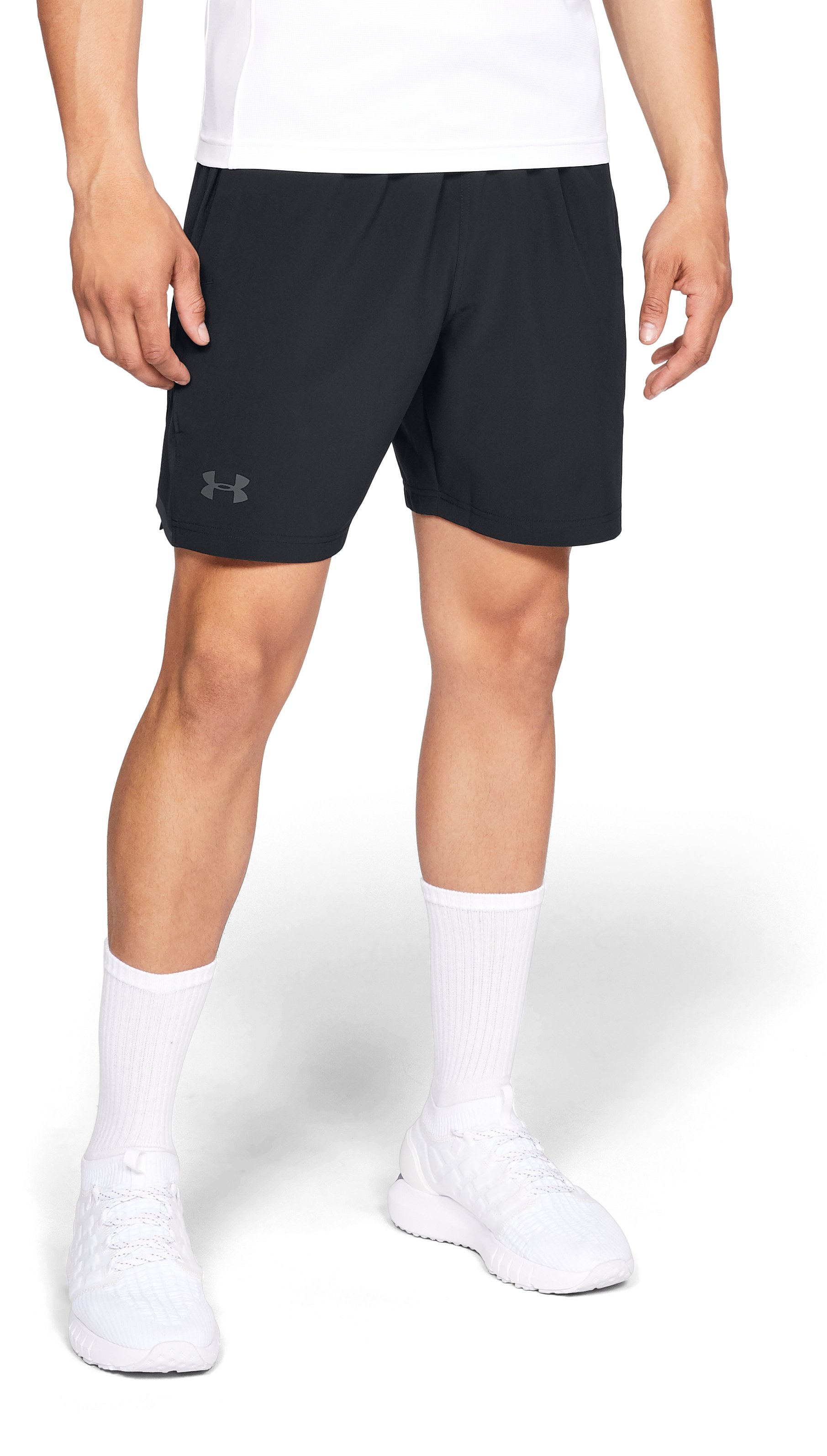 "Men's UA Forge 7"" Tennis Shorts, Black"