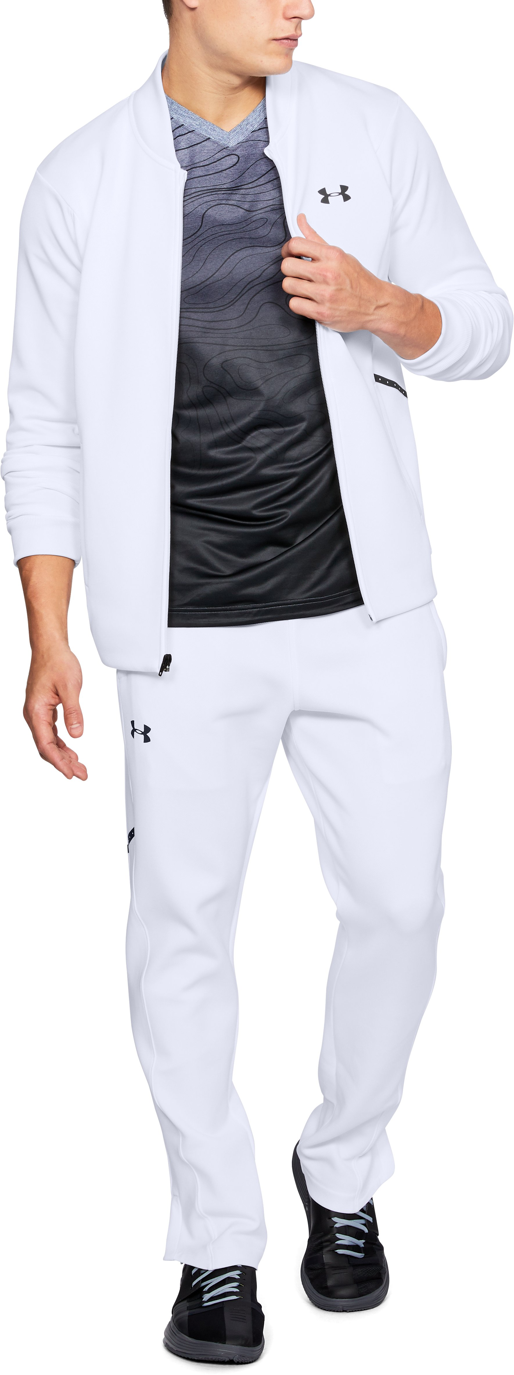 Men's UA Forge Warm Up Jacket, White,