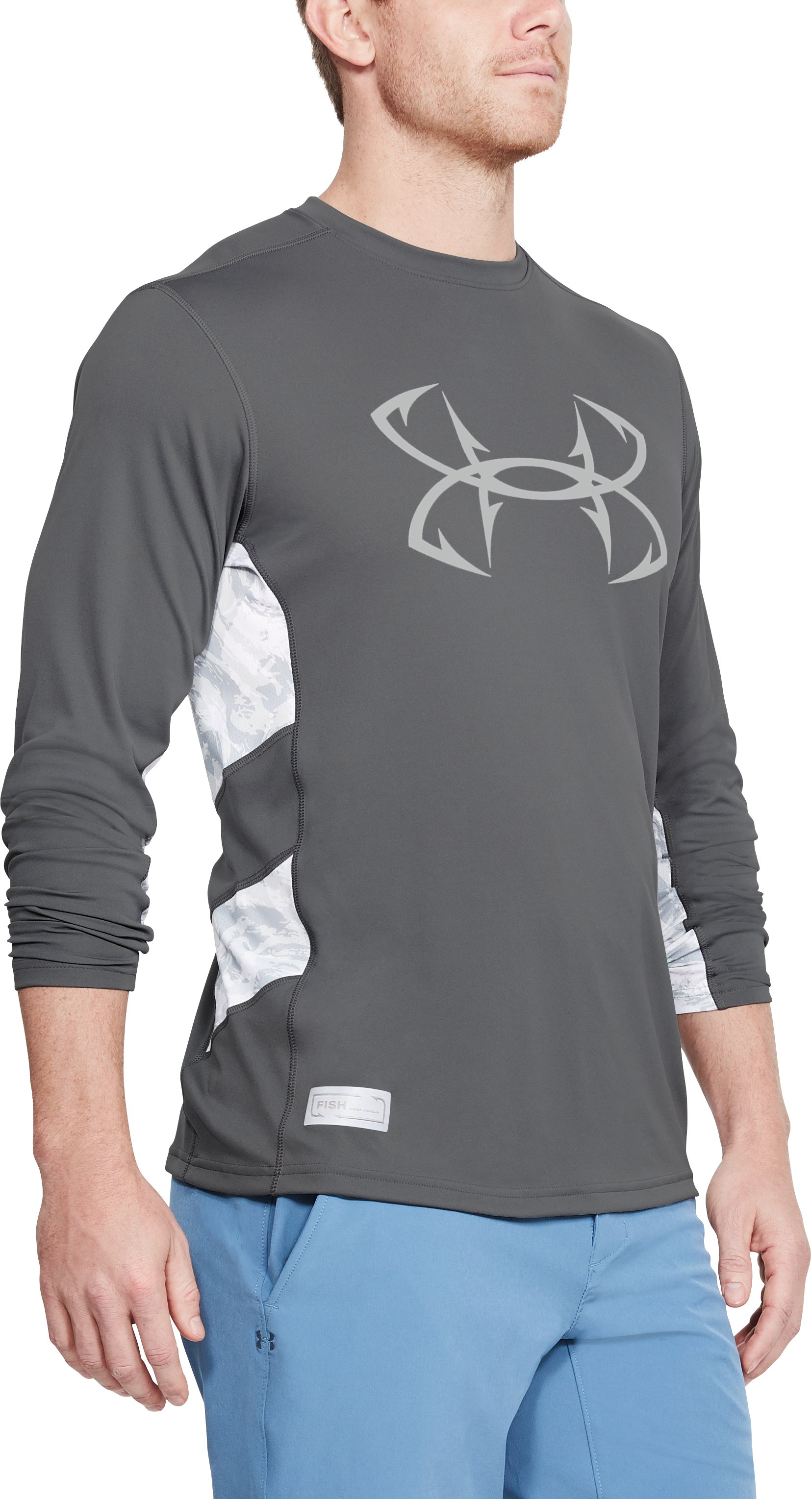 Men's UA Fish Hunter Tech Long Sleeve, Graphite,