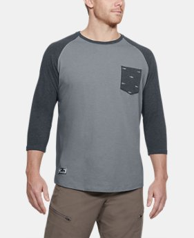 New Arrival Men's UA Dockside Charged Cotton® Baseball T-Shirt  1 Color $35
