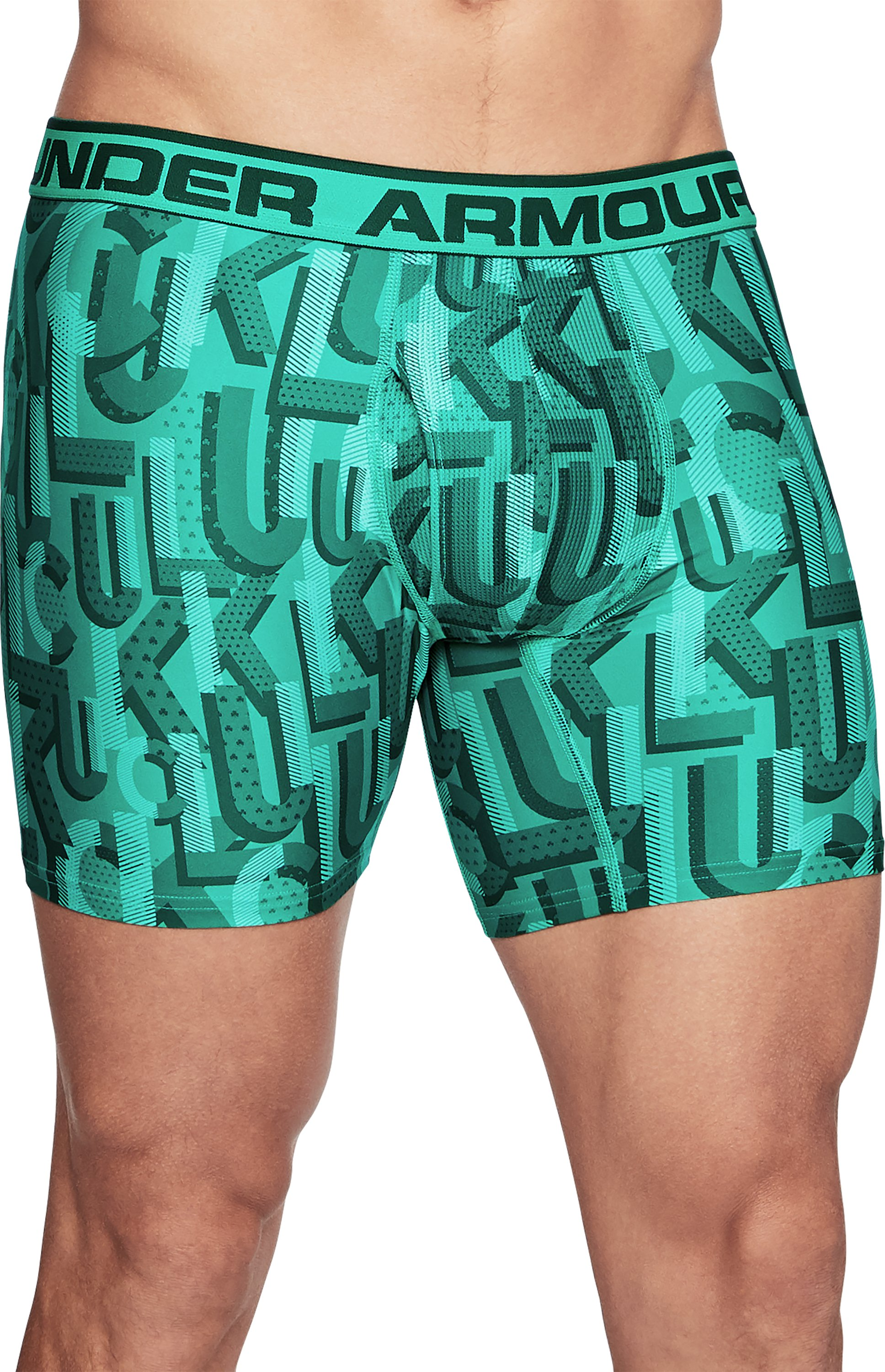 Men's UA Original Series Printed Boxerjock®, GREEN ROOM