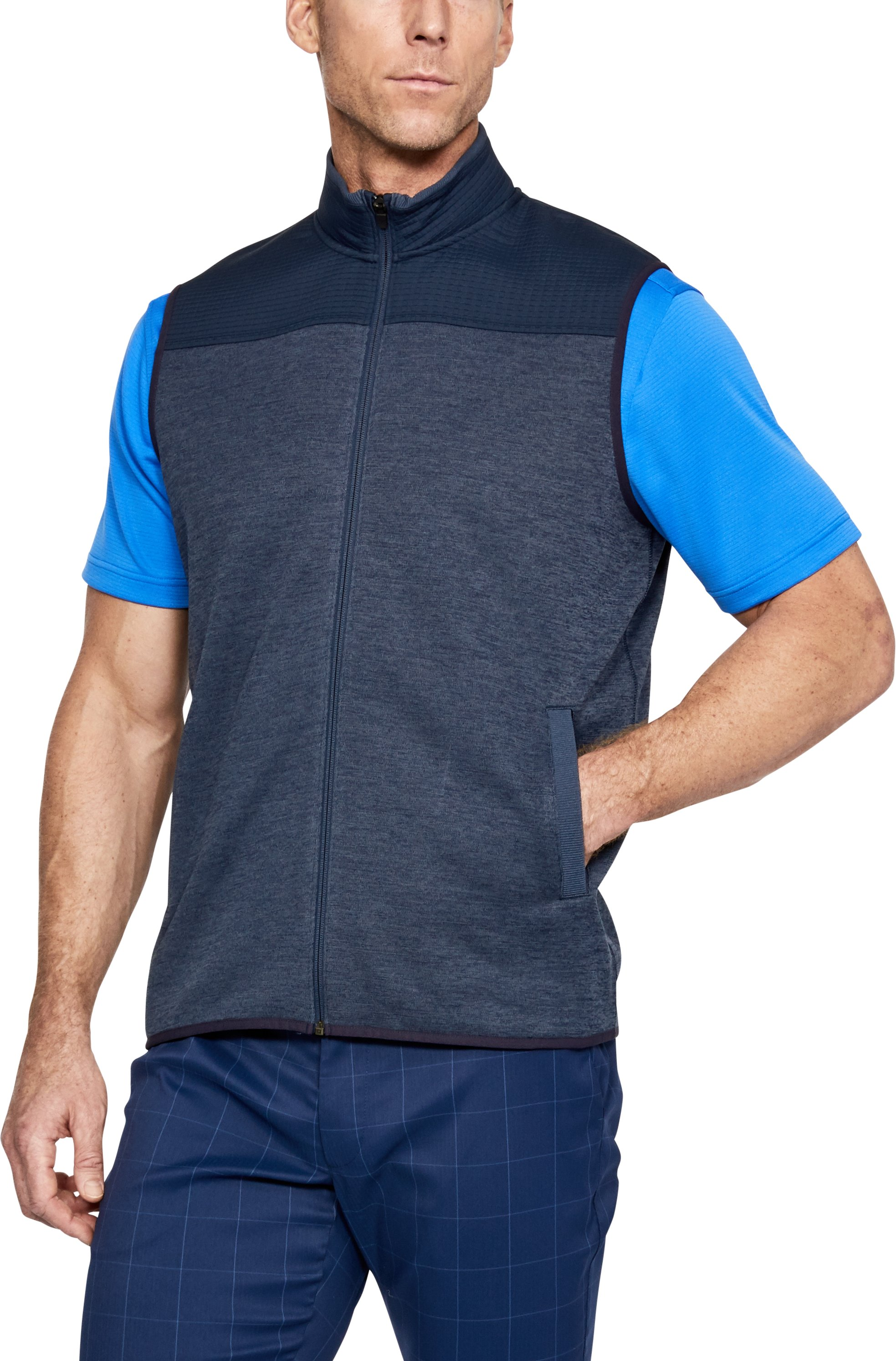Men's UA SweaterFleece Full Zip Vest, Academy,