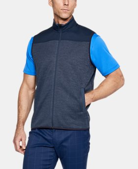 New Arrival Men's UA SweaterFleece Full Zip Vest  1 Color $65
