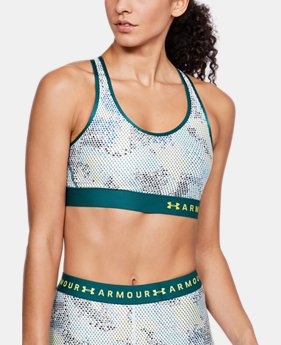 Women's Armour® Mid Print Sports Bra  2 Colors $30