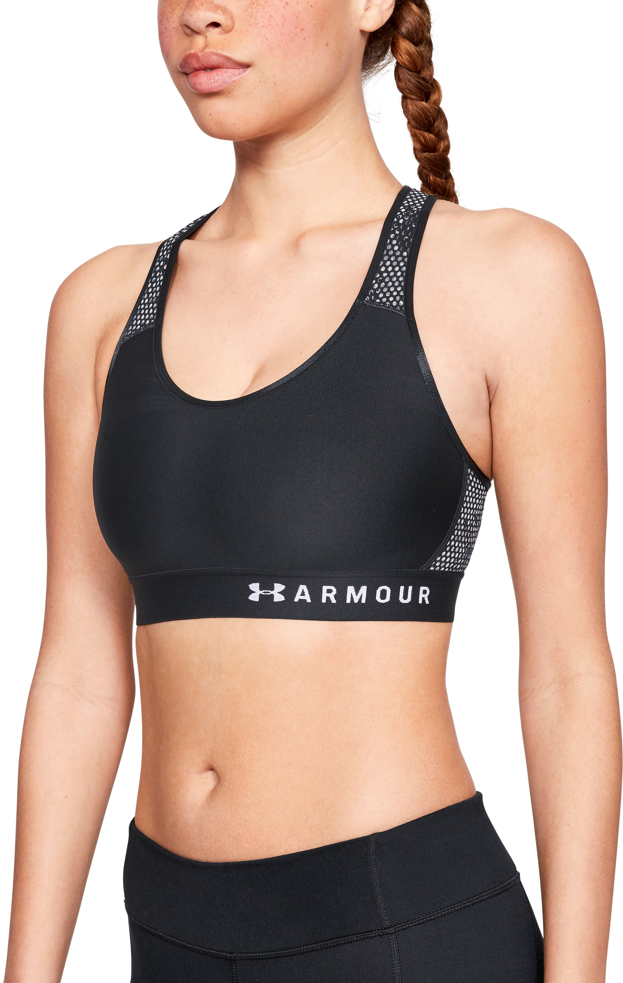 Women's Armour® Mid Mesh Back Sports Bra 3 Colors $22.50