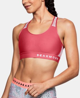 New Arrival  Women's Armour® Mid Mesh Back Sports Bra  2 Colors $40