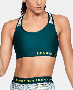 Women's Armour® Mid Mesh Back Sports Bra  3 Colors $30