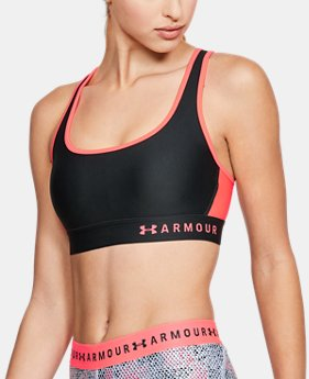 Women's Armour® Mid Crossback Sports Bra  4 Colors $35