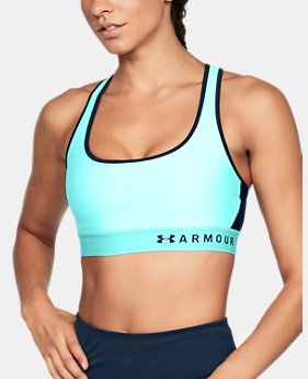 Women's Armour® Mid Crossback Sports Bra  1  Color $35