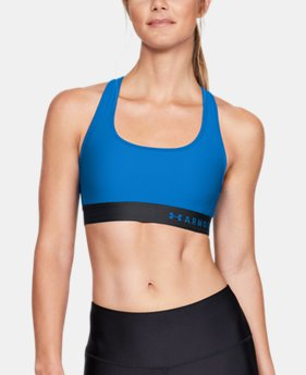 Women's Armour® Mid Crossback Sports Bra  3  Colors Available $40