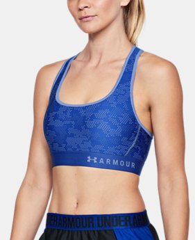 New Arrival Women's Armour® Mid Crossback Patterned Sports Bra  1 Color $40