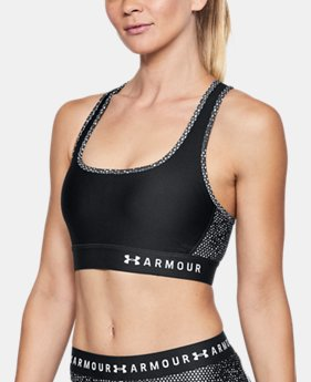 Women's Armour® Mid Crossback Print Sports Bra  3  Colors $45