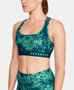 Women's Armour® Mid Crossback Print Sports Bra  2  Colors Available $40