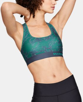 Women's Armour® Mid Crossback Print Sports Bra  3  Colors Available $40