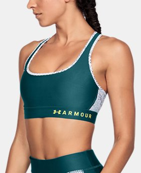 New Arrival  Women's Armour® Mid Crossback Print Sports Bra  3 Colors $45