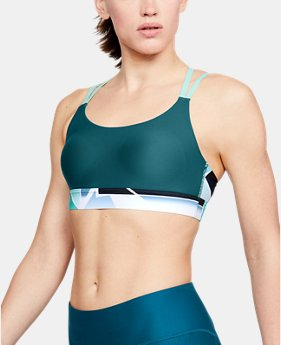 New Arrival Women's UA Vanish Eclipse Low Print Sports Bra  1  Color $45