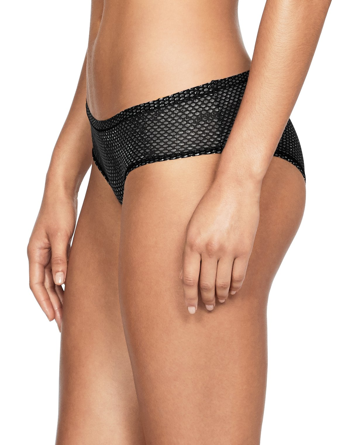 Women's UA Sheer Hipster Patterned, Black , undefined